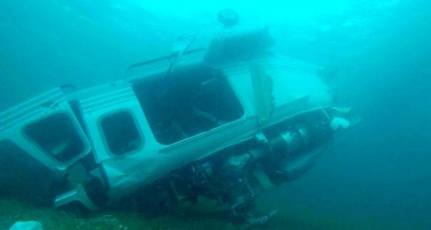 PHOTO: Investigators mapped the debris field and conducted underwater surveying at the scene of a helicopter crash off Grand Cay, in the Bahamas, July 5, 2019. (Bahamas Police Marine Unit and Support Team)
