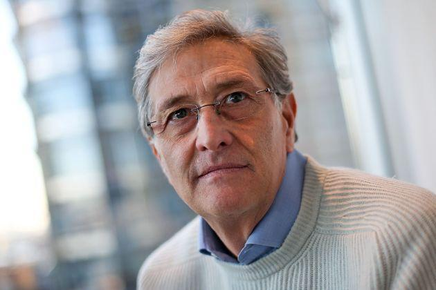 Italian director of the European Medicines Agency (EMA), Guido Rasi, poses for a portrait at the organisation's headquarters at Canary Wharf in east London on January 20, 2017. - Staff at the European Medicines Agency are facing an uncertain future, its director Guido Rasi told AFP from the London headquarters which will likely be relocated due to Brexit. The Italian microbiology professor describes the