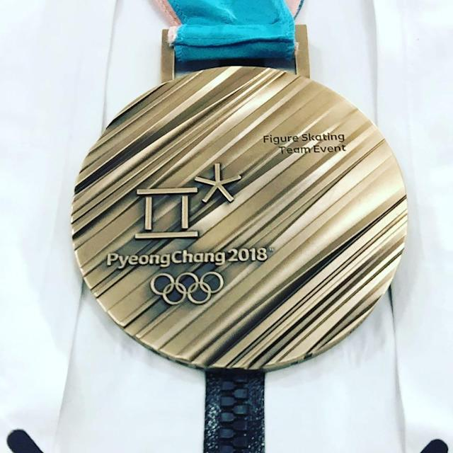 <p>Chris Knierim USA, figure skating<br> chris_knierim: This is unreal!!!! #bronze#AKCK#Olympics<br> (Photo via Instagram/chris_knierim) </p>