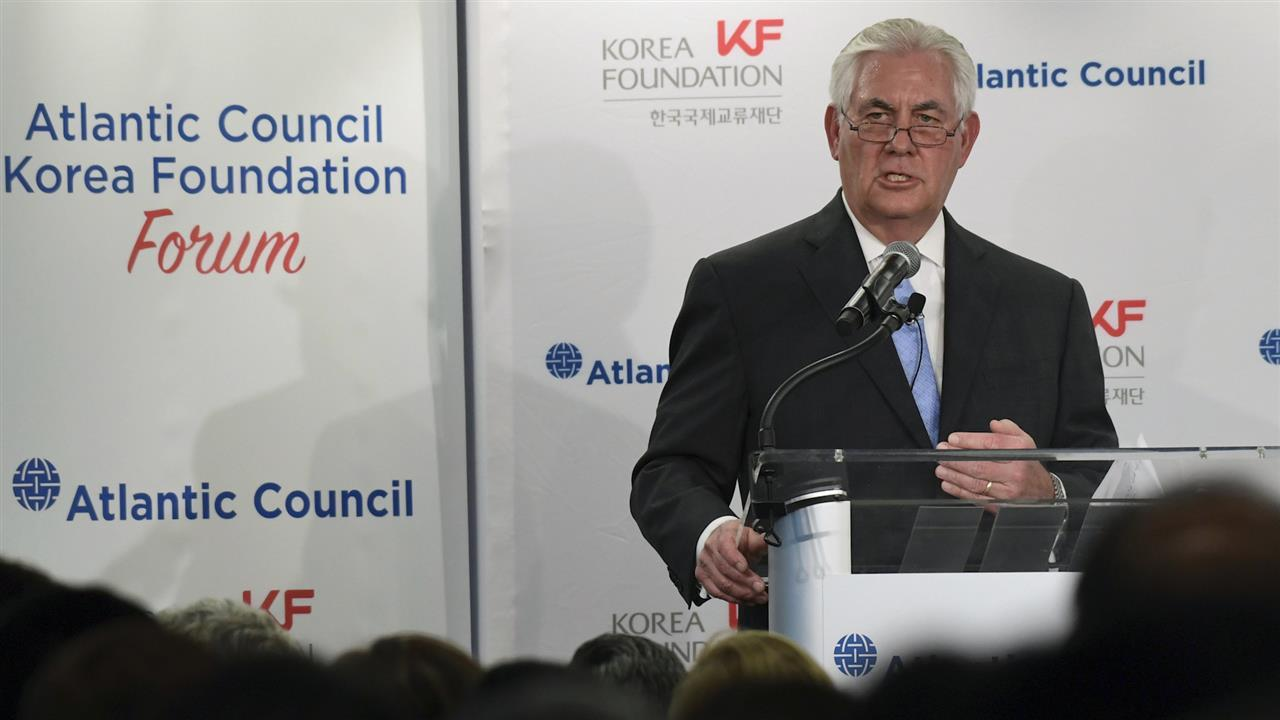 """Secretary of State Rex Tillerson said Tuesday the U.S. wants to have a dialogue with North Korea """"anytime,"""" backing away from Washington's previous demand that Pyongyang give up its nuclear weapons before they come to the table. Photo: AP"""