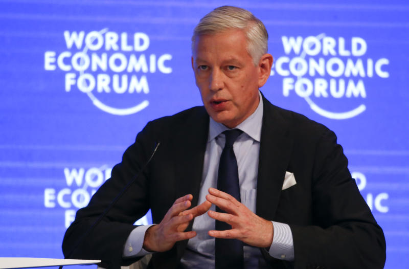 Dominic Barton, Global Managing Partner, McKinsey & Company, attends the annual meeting of the World Economic Forum (WEF) in Davos, Switzerland, January 18, 2017. REUTERS/Ruben Sprich