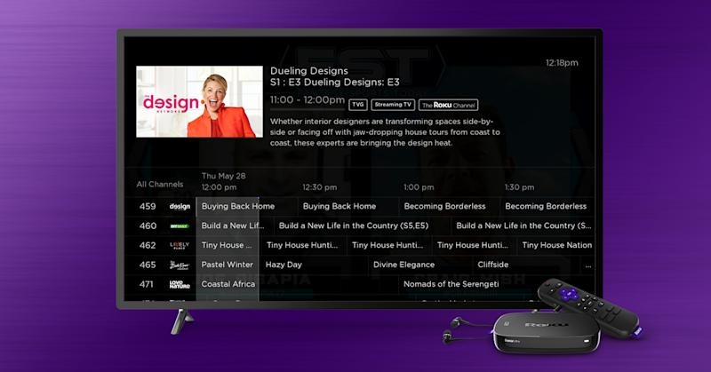 The Roku Channel is getting a guide similar to those found on traditional cable and satellite services. (Image: Roku)