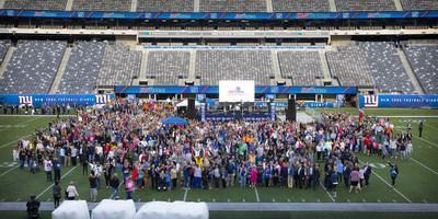 More than 6,000 cancer survivors, their family members and caregivers, and their healthcare teams gathered on the evening of September 13 at MetLife Stadium in Rutherford, New Jersey for Celebrating Life & Liberty, sharing inspiration and support for cancer survivors and people with cancer who are still in treatment or recovery.