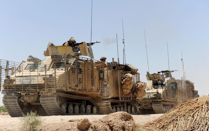 Tank troops in Afghanistan - PA