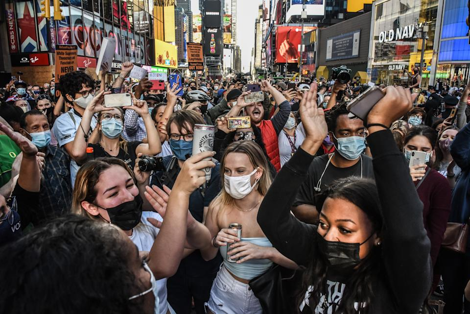New Yorkers took the streets in the thousands. Source: Getty
