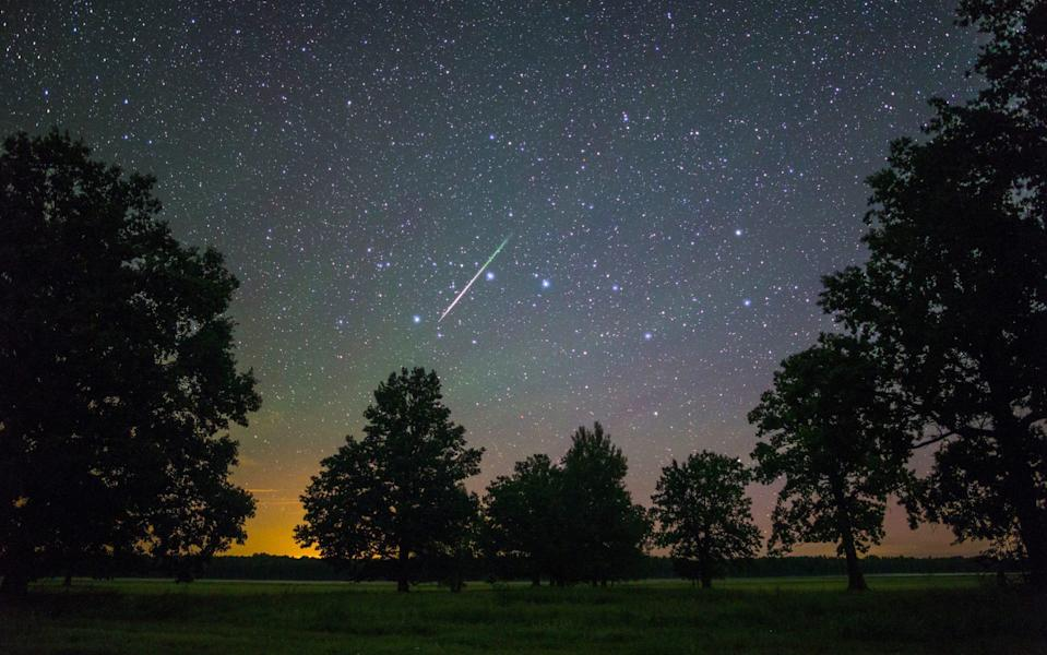 If you're lucky, you might spot a meteor shower - iStockphoto