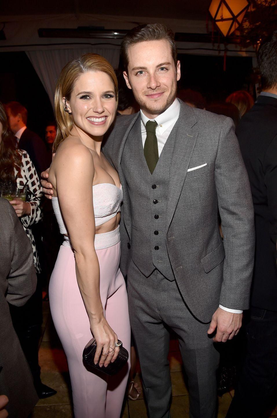 """<p>Sophia also dated her Chicago PD co-star Jesse Lee Soffer. The pair only last <a href=""""https://www.eonline.com/news/665944/sophia-bush-and-boyfriend-jesse-lee-soffer-break-up"""" rel=""""nofollow noopener"""" target=""""_blank"""" data-ylk=""""slk:about a year"""" class=""""link rapid-noclick-resp"""">about a year </a>before calling it quits. According to a <a href=""""http://www.justjared.com/2015/06/11/sophia-bush-jesse-lee-soffer-split-exclusive/"""" rel=""""nofollow noopener"""" target=""""_blank"""" data-ylk=""""slk:JustJared source"""" class=""""link rapid-noclick-resp"""">JustJared source</a>, the couple 'grew apart.' Sophia and Jesse continued to work together on the NBC show until Sophia <a href=""""https://www.tvinsider.com/737380/sophia-bush-chicago-pd-exit-abusive-behavior/"""" rel=""""nofollow noopener"""" target=""""_blank"""" data-ylk=""""slk:left the series in 2017"""" class=""""link rapid-noclick-resp"""">left the series in 2017</a>.</p>"""
