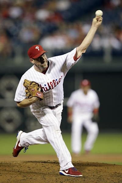 Philadelphia Phillies' Cliff Lee pitches during the third inning of a baseball game against the San Diego Padres, Wednesday, Sept. 11, 2013, in Philadelphia. (AP Photo/Matt Slocum)