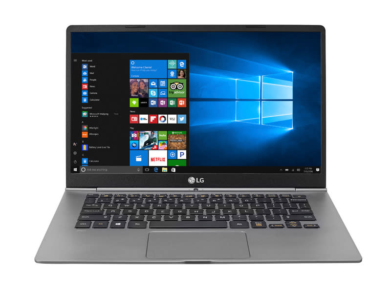 The LG gram 14 is a supremely portable notebook.