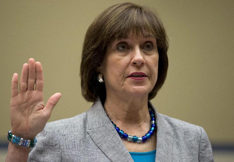 IRS official Lois Lerner is sworn in on Capitol Hill in Washington, Wednesday, May 22, 2013, before the House Oversight Committee hearing to investigate the extra scrutiny IRS gave to Tea Party and other conservative groups that applied for tax-exempt status. Lerner told the committee she did nothing wrong and then invoked her constitutional right to not answer lawmakers' questions. (AP Photo/Carolyn Kaster)