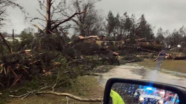 PHOTO: Storm damage is pictured in a photo posted to social media by the Vernon Parish Sheriff's Department, Dec. 16, 2019. (Det. Sylvester Denmond/Vernon Parish Sheriff's Dept.)
