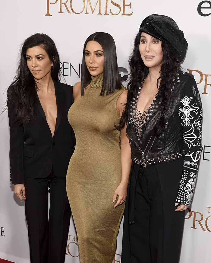 Kourtney, Kim Kardashian and Cher