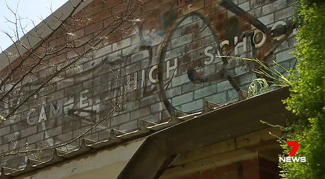 The former students and staff are convinced toxic substances in the soil are to blame for the high rate of cancer. Photo: 7 News