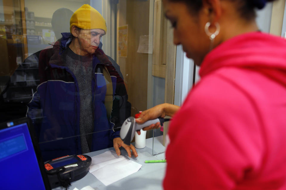 James Ingemi picks up Suboxone prescription as part of his treatment regimen for opiate dependency at the pharmacy at Boston Healthcare for the Homeless Program in Boston, Massachusetts January 14, 2013. Suboxone is an opiate replacement therapy drug used to help treat opiate cravings and withdrawal. Drug overdoses have overtaken AIDS-related causes to become the leading cause of death of homeless adults, according to a study of homeless residents of Boston who received treatment from the Boston Health Care for the Homeless Program, though its broad conclusions apply to homeless populations in many urban parts of the United States, the study's author and homeless advocates said.  REUTERS/Brian Snyder    (UNITED STATES - Tags: HEALTH SOCIETY DRUGS)