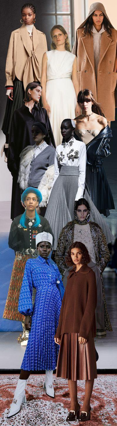 <p>A long-standing theory in fashion: High hemlines indicate economic prosperity, while long styles convey downturns. In the precarious time that was 2020, it was overwhelmingly the latter. Here to demonstrate this credo are the bevy of midi skirts that dominated the look books and virtual presentations for the fall 2021 season. They are box-pleated at Christian Dior, knife-pleated at Erdem, A-lined at The Row, and flowy at Partow—but all reach midway between the knee and ankle.</p><p><em>Pictured from top to bottom: 3.1 Phillip Lim, Partow, Max Mara, The Row, Rokh, Erdem, Chopova Lowena, Christian Dior, Thebe Magugu, and Loro Piana. </em></p>