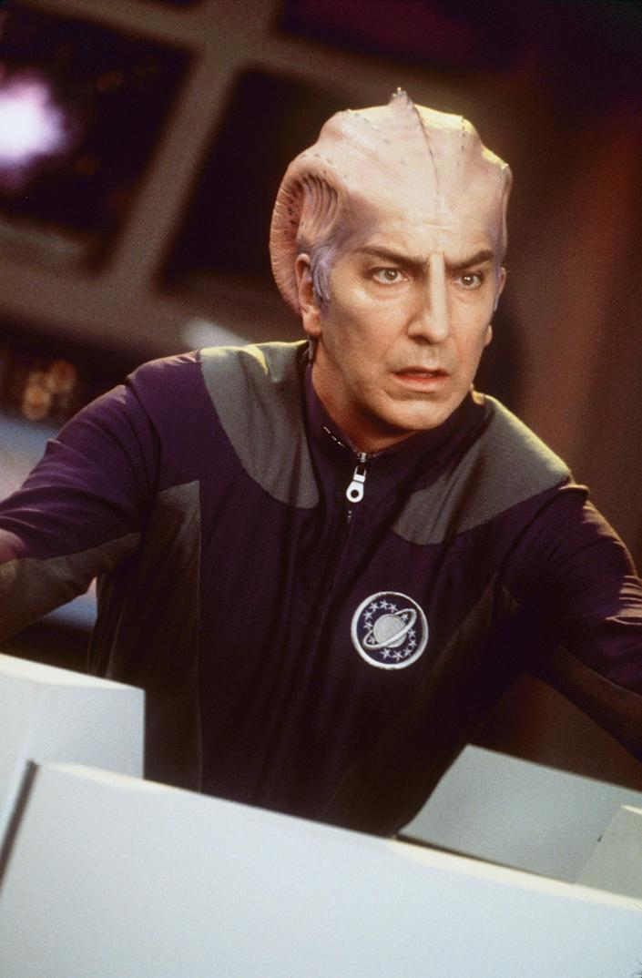 """1999 Alan Rickman stars as Doctor Lazarus in the movie """"Galaxy Quest."""" Photo Dreamworks"""