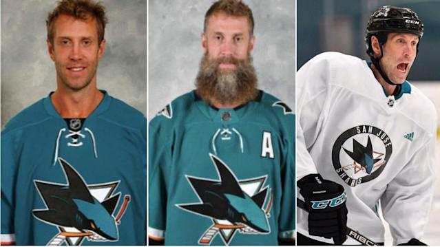 It's been a 'hairy' few years for Joe Thornton. The winds of change blew right through his beard early Tuesday morning and with it came the haunting buzz of an electric razor.