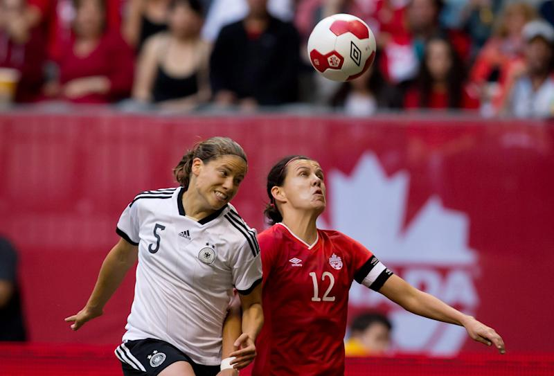 Germany beats Canada 2-1 in women's soccer game