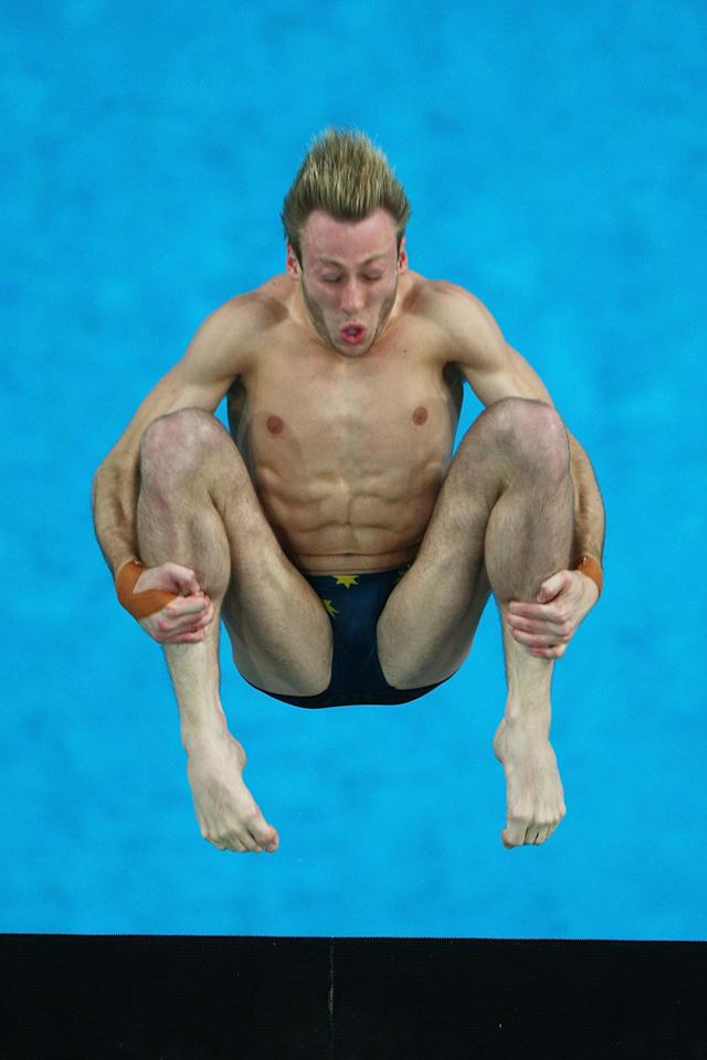BEIJING - AUGUST 22: Matthew Mitchum of Australia competes in the Men's 10m Platform Preliminary diving event at the National Aquatics Center on Day 14 of the Beijing 2008 Olympic Games on August 22, 2008 in Beijing, China. (Photo by Mike Hewitt/Getty Images)