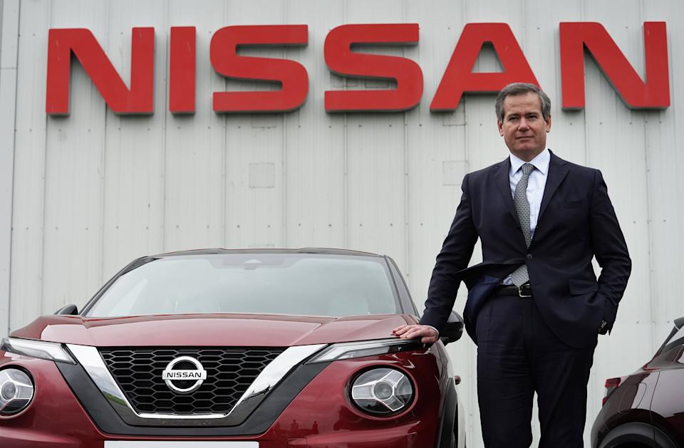 Chairman of Nissan Europe, Gianluca de Ficchy, at their plant in Sunderland after workers were told that the car manufacturer is to end the night shift at its UK plant. (Photo by Owen Humphreys/PA Images via Getty Images)