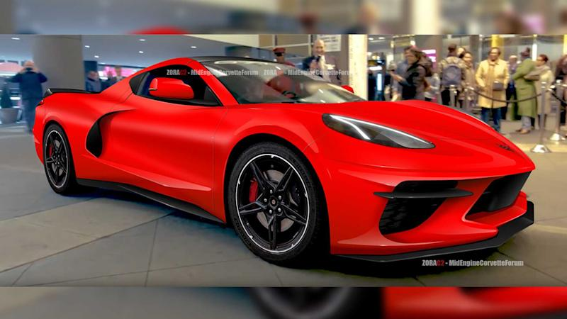 New C8 Corvette Fan Rendering