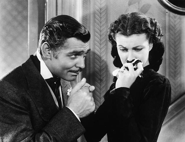 Clark Gable and Vivien Leigh in Gone With The Wind (Credit: Hulton Archive/Getty Images)