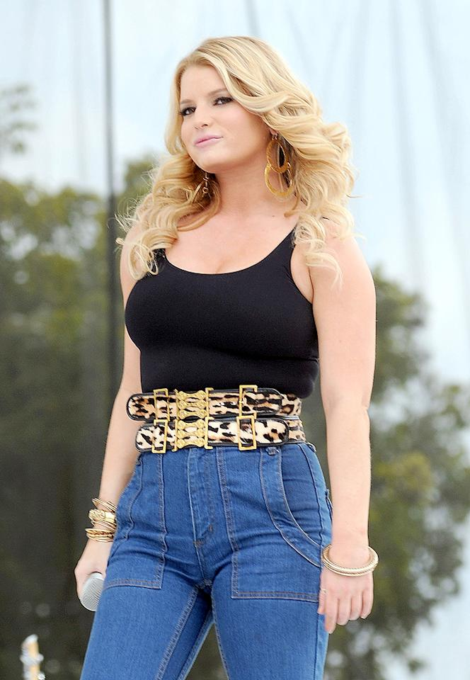 "The media had a field day when Jessica Simpson took the stage to perform at a Florida chili cook-off in 2009. The curvy star arrived at the show in high-waisted jeans and a wide leopard belt, inspiring critics to blast the star's fashion sense and physique. But sister Ashlee fought back, saying, ""I am completely disgusted by the headlines. All women come in different shapes, sizes, and forms, and just because you're a celebrity, there shouldn't be a different standard."" While we agree with Ashlee's point of view, dressing well means dressing for your figure, no matter the shape or size."