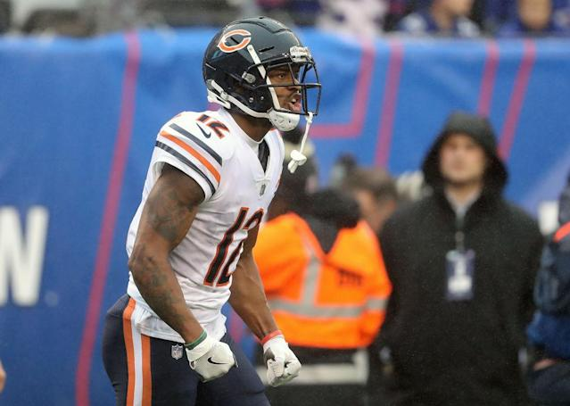 The Bears No. 1 receiver could have a monster game against their division rivals. (Photo by Elsa/Getty Images)
