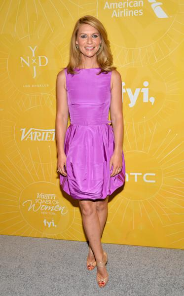 "Actress Claire Danes attends Variety's ""Power of Women: New York"" luncheon at Cipriani Midtown on Friday, April 25, 2014 in New York. (Photo by Evan Agostini/Invision/AP)"