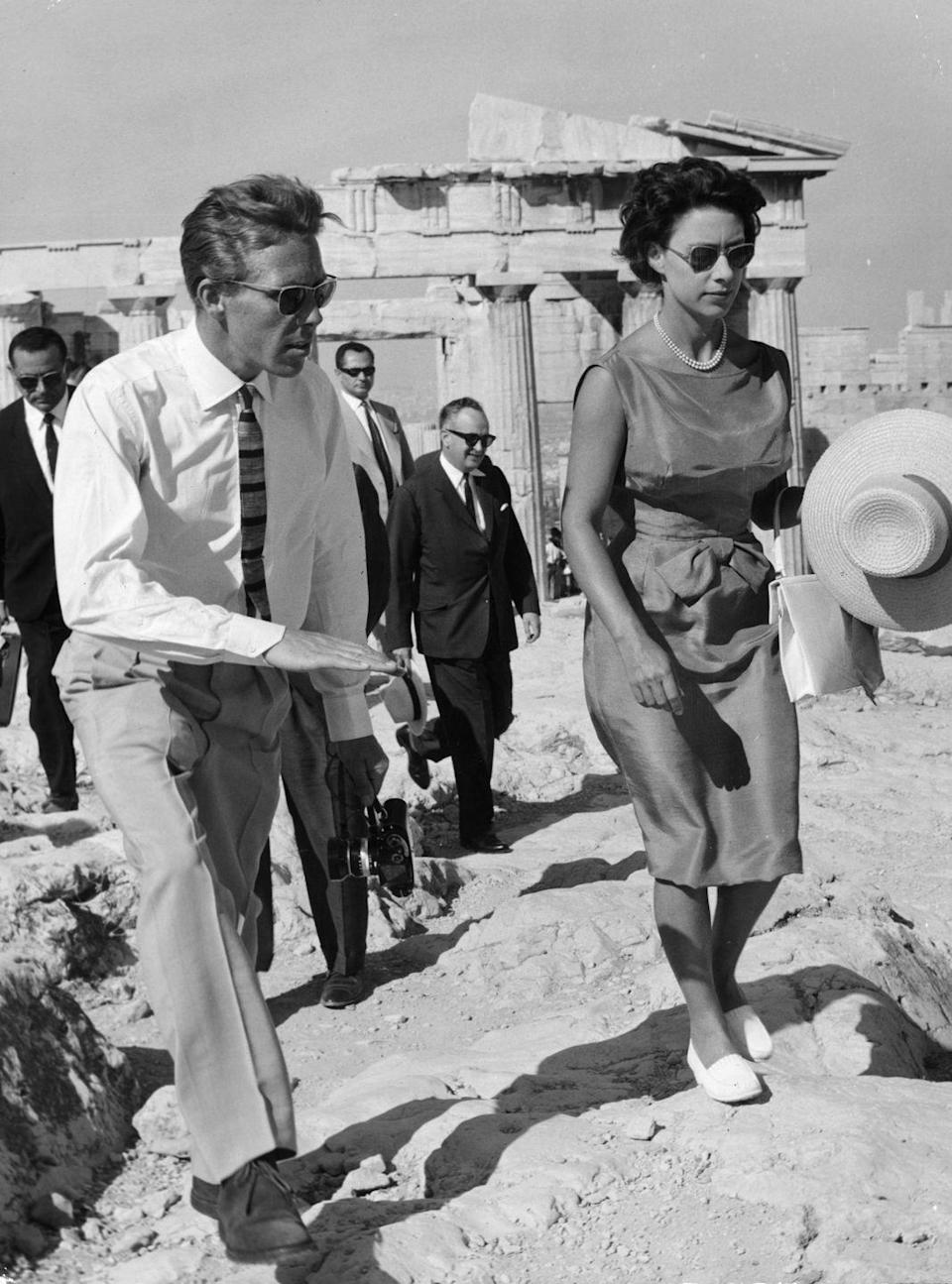 <p>Looking fabulous while visiting the Acropolis is the defintion of #vacationgoals. Princess Margaret and her husband made it look easy. They visited the country on holiday in September 1963. </p>