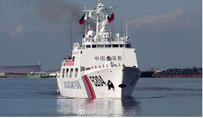The group of 12 Hongkongers were caught at sea by the China Coast Guard. Photo: Weibo