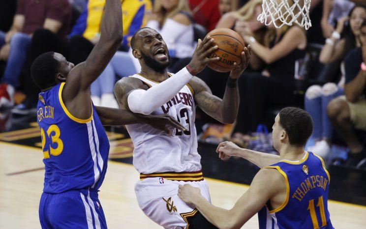 LeBron James' brilliance finally paid off Friday with a victory in Game 4. (AP)
