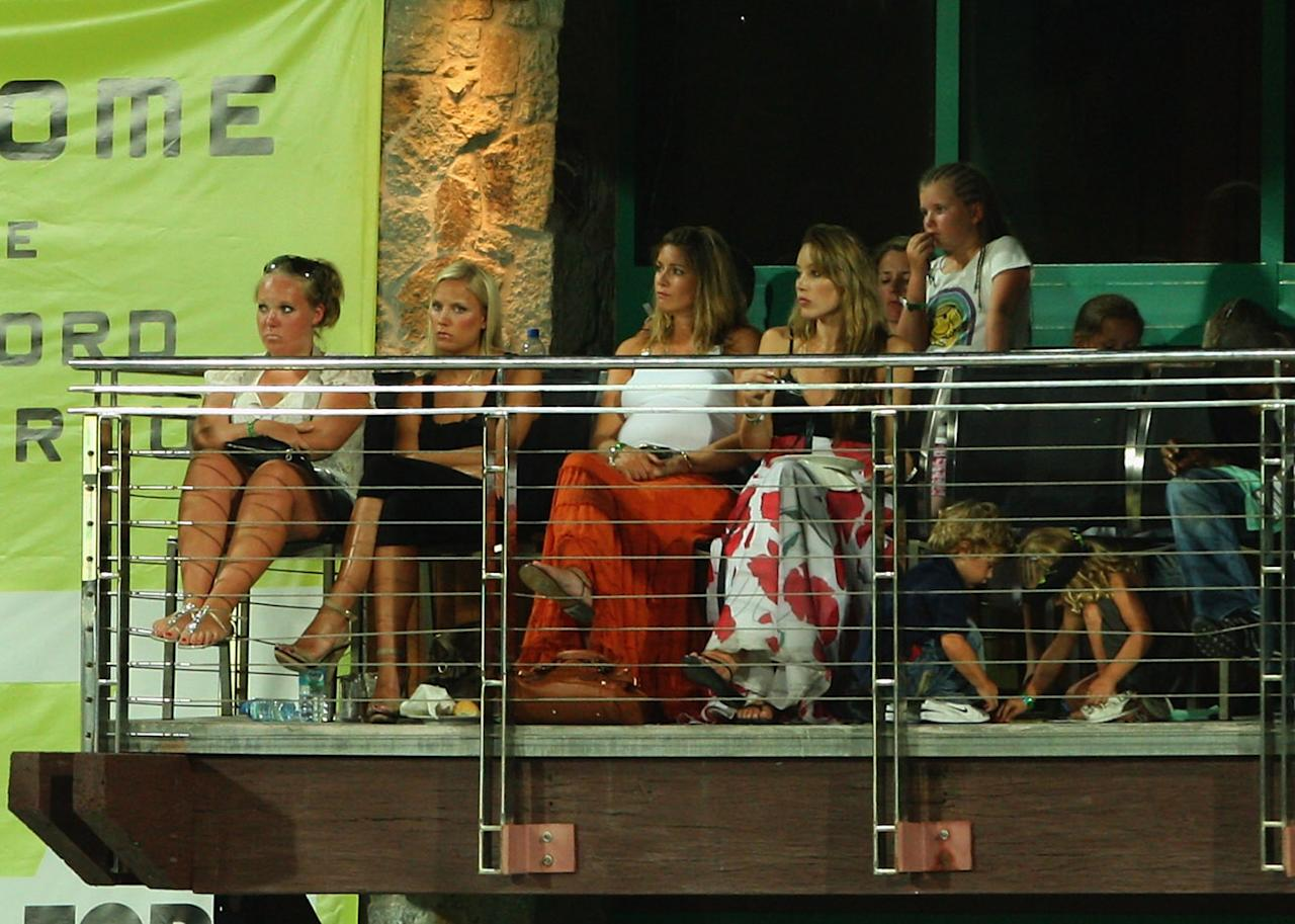 ST. JOHN'S, ANTIGUA AND BARBUDA - NOVEMBER 01:  Wives and girlfriends watch play during the Stanford Twenty20 Super Series 20/20 for 20 match between Stamford Superstars and England at the Stanford Cricket Ground on November 1, 2008 in St Johns, Antigua  (Photo by Tom Shaw/Getty Images)