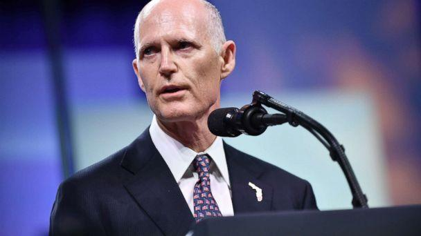 PHOTO: Florida Governor Rick Scott addresses the Chiefs of Police (IACP) annual convention at the Orange County Convention Center in Orlando, Fla., Oct. 8, 2018. (Mandel Ngan/AFP/Getty Images)