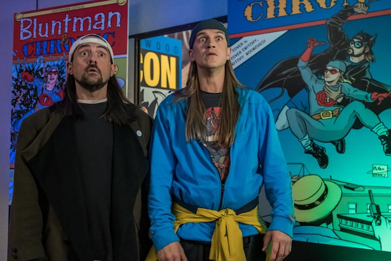 Kevin Smith (left) and Jason Mewes revive their familiar onscreen personas for