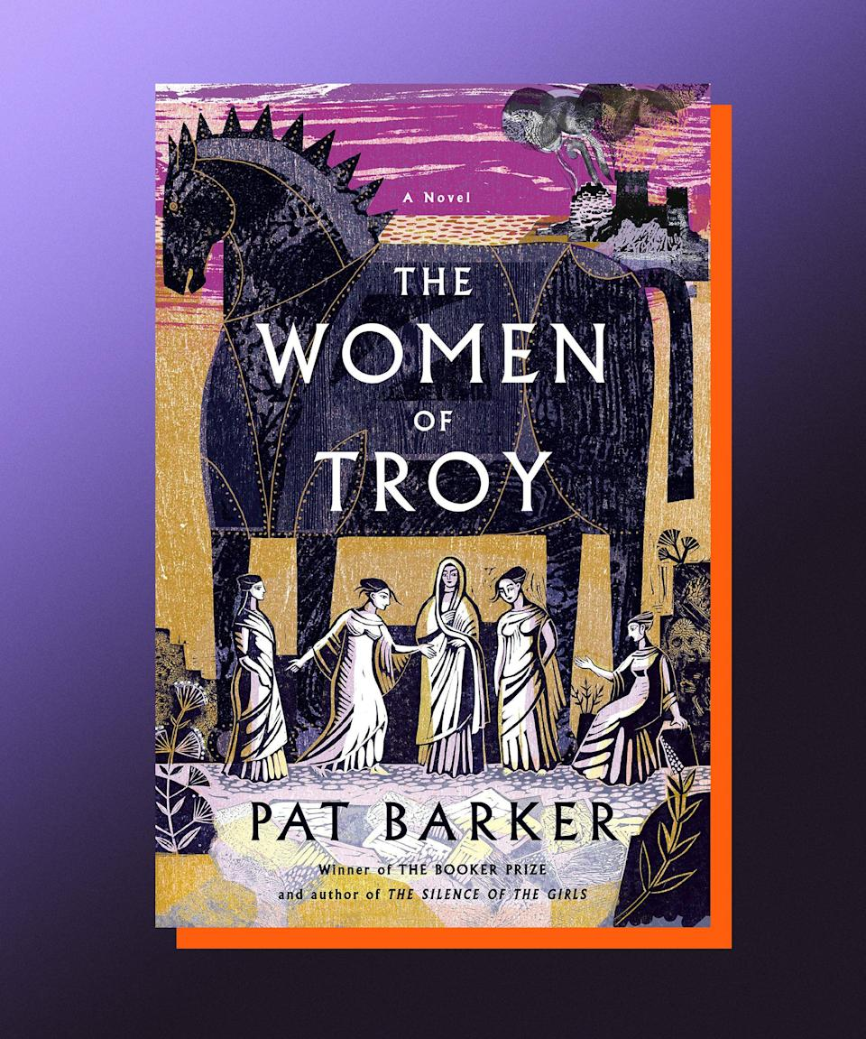 """<strong><em>The Women of Troy,</em> Pat Barker (<a href=""""https://bookshop.org/books/the-women-of-troy-9780593414293/9780385546690"""" rel=""""nofollow noopener"""" target=""""_blank"""" data-ylk=""""slk:available August 24"""" class=""""link rapid-noclick-resp"""">available August 24</a>)</strong><br><br>The reimagining of mythological epics is certainly having a moment (think, <em>Circe</em> and <em>Song of Achilles</em>), but it's a moment worth extending, I think, a reminder that even the most well-known sagas can generate surprises and newfound delights. Pat Barker's <em>The Women of Troy</em> starts at an ending: The Trojan War is over, the Greeks are victorious, and all that's left is for them to sail home with their spoils — including an untold number of women captives. Barker's novel is told from the perspective of Briseis, a Trojan woman who was captured and enslaved during the war by the Greeks, and is now using the end-of-war chaos to plot her path to revenge. Barker has already written about Briseis before, in the excellent <em><a href=""""https://bookshop.org/books/the-silence-of-the-girls-9787559642394/9780525564102"""" rel=""""nofollow noopener"""" target=""""_blank"""" data-ylk=""""slk:The Silence of the Girls"""" class=""""link rapid-noclick-resp"""">The Silence of the Girls</a></em>, and this continuation of the Trojan woman's story feels like another victory for every person who was silenced by history, their story stolen from them."""