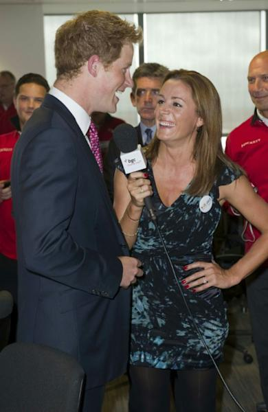 Prince Harry was pictured chatting to presenter Natalie Pinkham at a London charity event in 2011