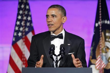 Obama delivers remarks at a dinner in honor of Presidential Medal of Freedom awardees in Washington