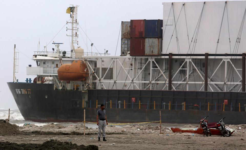 Pakistan Ship (Copyright 2021 The Associated Press. All rights reserved.)