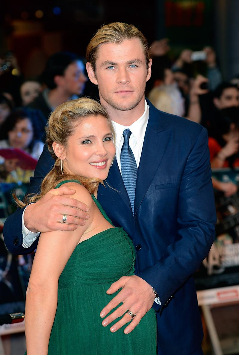 LONDON, ENGLAND - APRIL 19:  Elsa Pataky and Chris Hemsworth attend Marvel Avengers Assemble European Premiere at Vue Westfield on April 19, 2012 in London, England. on April 19, 2012 in London, England.  (Photo by Gareth Cattermole/Getty Images)