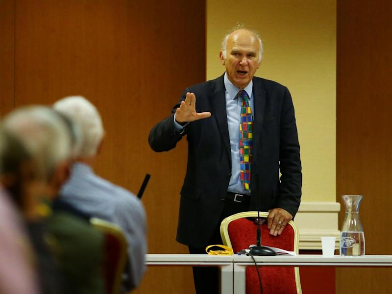 Sir Vince Cable warned that the 'no deal' scenario could deliver consequences like the 'credit crunch' (Gareth Fuller/PA)