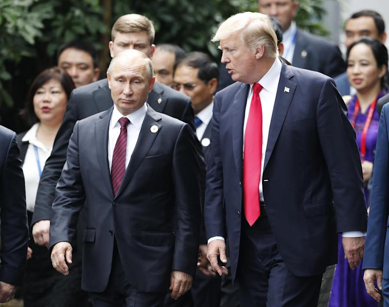 Trump-Putin summit LIVE: US president prepares for meeting by praising Russian leader, calling EU 'foes' and press 'the enemies of the people'