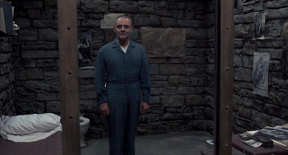 """The creepy way Hannibal Lecter (<strong>Anthony Hopkins</strong>) greets Clarice (<strong>Jodie Foster</strong>) in 1991's <em>The Silence of the Lambs </em>is often repeated. But if you've ever done a Hannibal impression to try and freak somebody out, you've likely said the famous quote wrong. What Dr. Lecter actually says is, """"Good evening, Clarice."""" For some scary streaming recommendations, here are <a href=""""https://bestlifeonline.com/best-horror-movies-netflix/?utm_source=yahoo-news&utm_medium=feed&utm_campaign=yahoo-feed"""" rel=""""nofollow noopener"""" target=""""_blank"""" data-ylk=""""slk:The 18 Best Horror Movies on Netflix Right Now"""" class=""""link rapid-noclick-resp"""">The 18 Best Horror Movies on Netflix Right Now</a>."""