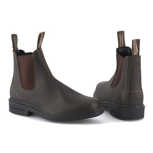 """<p><a class=""""link rapid-noclick-resp"""" href=""""https://www.blundstone.co.uk/products/blundstone-062-brown-leather"""" rel=""""nofollow noopener"""" target=""""_blank"""" data-ylk=""""slk:SHOP"""">SHOP</a></p><p>Blundstones make proper solid boots. These ones are part of their dress series (which means a sightly bigger heal and square-toe), so they will work equally as well on trails as they will on dates. </p><p>#062 Stout, £145, <a href=""""https://www.blundstone.co.uk/products/blundstone-062-brown-leather"""" rel=""""nofollow noopener"""" target=""""_blank"""" data-ylk=""""slk:blundstone.co.uk"""" class=""""link rapid-noclick-resp"""">blundstone.co.uk</a></p>"""