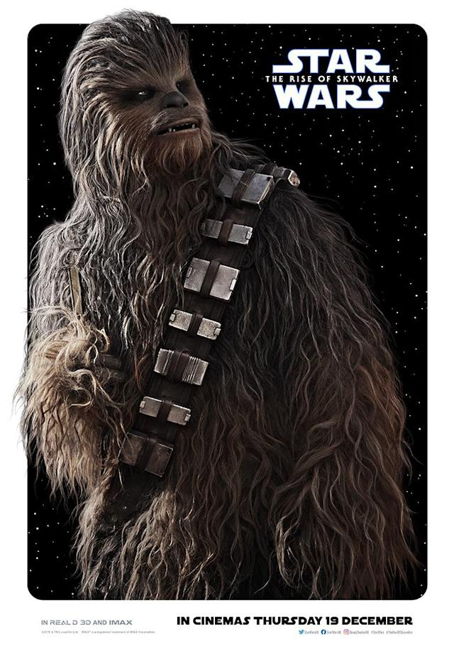 Joonas Suotamo returns as Chewbacca. (Disney)
