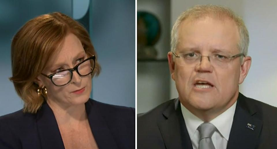 Leigh Sales once again pressed Scott Morrison on current issues regarding the coronavirus response. Source: ABC