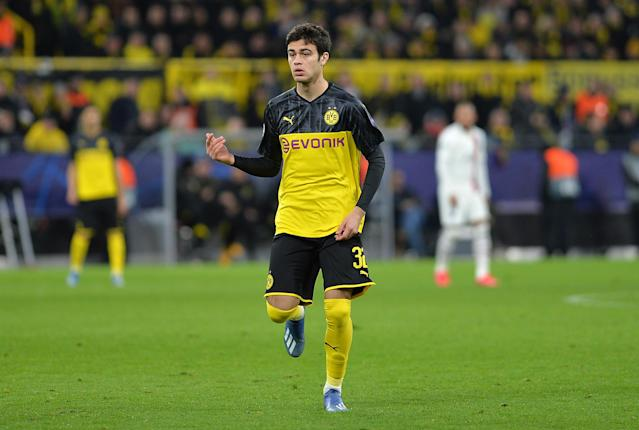 Borussia Dortmund's Giovanni Reyna has accepted a United States call-up for friendlies later this spring. (Ralf Treese/Getty)