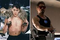 <p>The 'Iron Man' star trains every day using Bruce Lee's famous Wing Chun technique and has done for over a decade now. He packed on 25lbs of muscle to play Tony Stark through months of hard work, consuming around 5000 calories a day.<br></p>