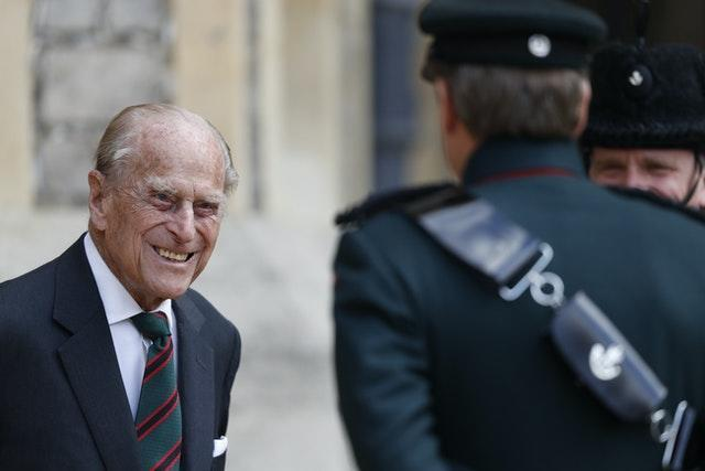 Philip during his last public appearance during the summer. Adrian Dennis/PA Wire