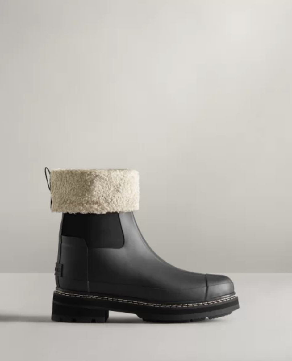 hunter boots Refined Stitch Roll Top Sherpa Boots